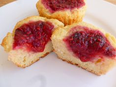 Farmer Cheese and Raspberry Muffins