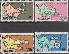 Nigeria 1980 ECOWAS Fine Mint As SG 417 20 Scott 396 8 Other British Commonweqlth Stamps for sale here