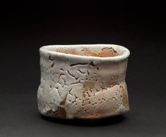 John Dix    Tea bowl  , 2007 Natural Ash Glaze  3 3/4 x 4 3/4 x 4 1/2 inches  /  9.5 x 12.1 x 11.4 cm  /  JDix 11