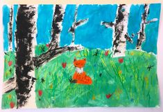 Birch Tree Landscapes- Grade – Art with Mrs Filmore Primary School Art, 2nd Grade Art, Observational Drawing, Object Drawing, Student Drawing, 3 Arts, Drawing Skills, Elements Of Art, Animal Drawings