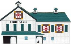 Candabean Collectibles  - Cat's Meow Village Ohio Star Quilt Barn 16-511 NEW , $17.00 (http://www.candabeancollectibles.com/cats-meow-village-ohio-star-quilt-barn-16-511-new/)