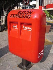 A Mexican post box from Mazatlán.