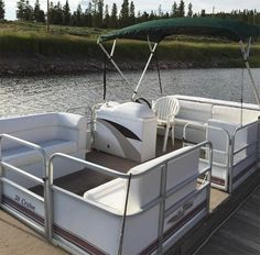 Highland Marina on Lake Granby-The Bandit is an 8 person 20 foot pontoon boat.