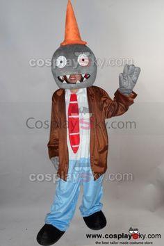 Conehead Zombie Plants vs. Zombies Mascot Costume