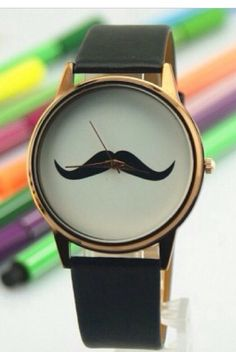 Moustache  watch  Yay or nay?