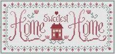 Vintage Home Sweet Home sampler free cross stitch pattern Cross Stitch House, Cross Stitch Heart, Cross Stitch Borders, Cross Stitch Samplers, Cross Stitch Designs, Cross Stitching, Cross Stitch Embroidery, Cross Stitch Patterns, Christmas Embroidery Patterns