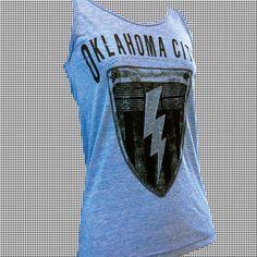 Oklahoma City Tank Top / $24 / Bombs Away Art