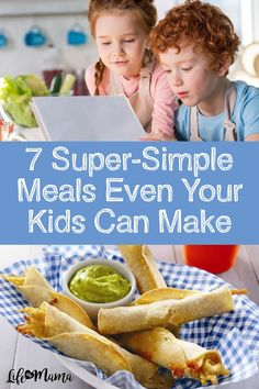 Sometimes mama needs a break! Let your kids make dinner (or lunch) with these super simple kid-friendly meals, safe for your kiddos to put together. | #lifeasmama #kidfriendlymeals #kids #food #recipes #easyrecipes #lunch #dinner