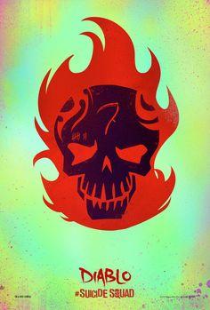 Suicide Squad Skull Posters El Diablo