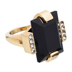 Marni Ring (€165) ❤ liked on Polyvore featuring jewelry, rings, onyx, marni, rectangle rings and marni jewelry