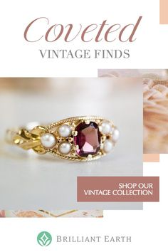 As timeless and unique as your love, our collection of vintage and antique rings originates from romantic eras of the past. Our one-of-a-kind jewelry is a distinctive choice she'll treasure forever. Cute Jewelry, Jewelry Box, Jewelry Rings, Jewelery, Jewelry Accessories, Jewelry Design, Jewelry Making, Antique Engagement Rings, Antique Rings