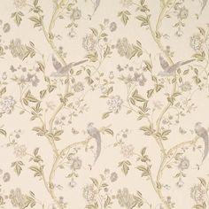 Floral Vines Off-White Wallpaper