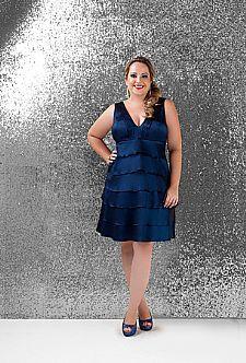Vestidos Online - Vestido de festa curto plus size