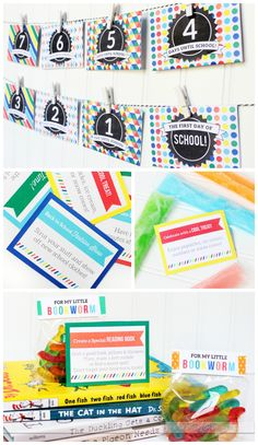 Back to School Ideas Celebration Kit- I LOVE the countdown and activity cards!!