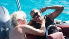 Barack Obama and Richard Branson show off friendship during sport competition in British Virgin Islands - Telegraph.co.uk