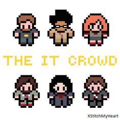 The IT Crowd Cross Stitch Pattern pdf INSTANT by XStitchMyHeart, £2.50