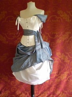 Alice In Wonderland Corset Costume OufitWhole by AliceAndWillow  This is AWESOME!!!
