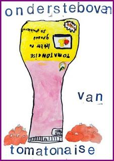 Tekenles: reclameposter maken over de onbekende producten uit 'het onbekende land' om ze te promoten