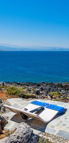 A relaxing area on a rocky shore! -Tersanas, Crete-