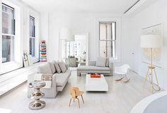 Stupendo soggiorno minimal contemporaneo in New York