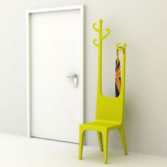 Reindeer Coat Hanger & Chair [I don't like this color or style, but something like would be handy by the door]