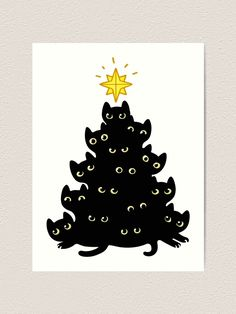 Meowy Christmas Stationery Cards by Irmirx - Set of 3 Folded Cards x Real History Of Christmas, Christmas Articles, Meaning Of Christmas, Christmas Greeting Cards, Christmas Greetings, Christmas Gifts, Christmas Decorations, Christmas Ideas, Christmas Tree Silhouette