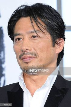 Actor Hiroyuki Sanada attends 'The Wolverine' Japan Premiere at the Roppongi Hills on August 2013 in Tokyo, Japan. (Photo by Jun Sato/WireImage) Chiba, Samurai Clothing, Roppongi Hills, Japanese Face, Asian Haircut, Jake Abel, What Is Miss, River Phoenix, Jason Momoa