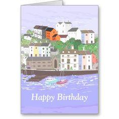 zazzle.com/cardshere Brixham Harbour customizable card