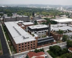 Werthan Mills, once a bag manufacturing plant, now lofts for the artistic community of Nashville.
