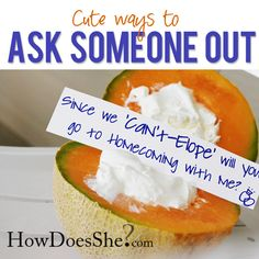 Very fun and creative ways to ask someone out on a date!! {Prom is coming up!!} #dateideas more at howdoesshe.com