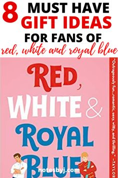 The Best Red, White and Royal Blue Merch! #giftideasforbooklovers #giftsforbooklovers Teen Fiction Books, Teen Romance Books, Books To Read In Your Teens, Read Books, Queer Books, Fallen Book, Percy Jackson Books, Book Lovers Gifts, Fantasy Books