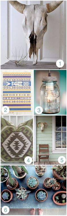 These ideas are great. Muted southwestern decor. Perfect!