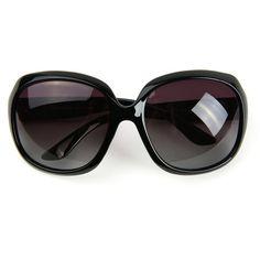 Amazon.com: Corciova® Classia Simple Oversized Women's Polarized... ($15) ❤ liked on Polyvore featuring accessories, eyewear, sunglasses, oversized sunglasses, black glasses, oversized glasses, over sized sunglasses and polarized sunglasses