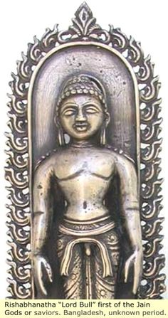 "The Indus Valley: The Beginnings of Indian Culture -  Rishabbanatha ""Lord  Bull"" first  of  the Jain Gods or saviors.Bangladesh,unknown period."
