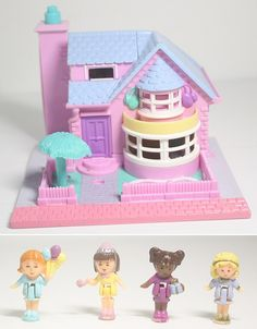 Polly Pocket Bay Window House- '93 COMPLETE