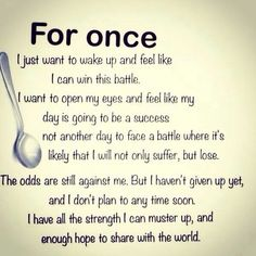 I wish this for all my friends fighting chronic illness