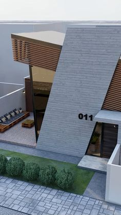 Minimal House Design, Modern Small House Design, Modern Exterior House Designs, Modern House Facades, House Front Design, Exterior Design, Architect House, Architect Design, Modern Architecture