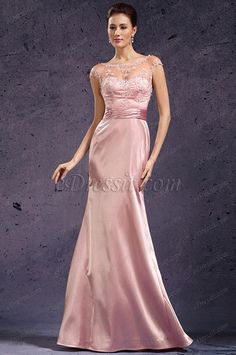 eDressit New Sexy Round Neck Lace Mother of the Bride Dress (26135301) #edressit #fashion #dresses #eveningdresses #lace #motherofthebridedresses #capsleevesgowns #pink #formalwears #roundneck
