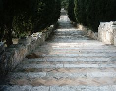 The Steps Leading Away From Filerimos Monastery Rhodes, Greece, Island, Greece Country, Islands