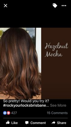 New Hair Color Highlights And Lowlights Brown Fun Ideas Fall Hair Colors, Brown Hair Colors, Hair Color And Cut, Cool Hair Color, Chocolate Hair, Brown Hair Balayage, Hair Color Highlights, Brunette Hair, Great Hair