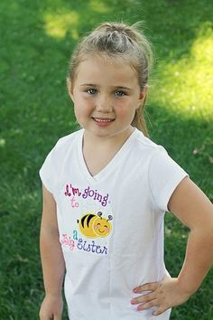 Going to BEE a big sister embroidered shirt by KKsKuteKreations, $20.00