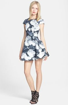 Keepsake the Label 'The Adventure' Print Fit & Flare Dress
