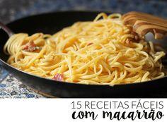64 New Ideas Pasta Carbonara Recipe Noodles Easy Pasta Dinner Recipes, Easy Healthy Recipes, Pasta Recipes, Vegetarian Recipes, Recipe Pasta, Portuguese Recipes, Italian Recipes, I Love Food, Good Food