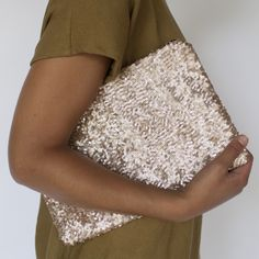 Over-sized Starlight Sequin Clutch.