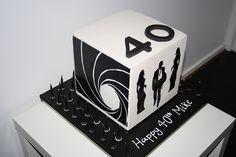 James Bond Cake side view by The Cake Company, via Flickr