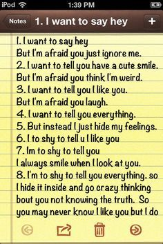Guy Problem Quotes   To afraid and too shy to tell you these things crush quotes I wrote ...