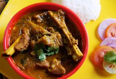 Recipe for Indian classic mutton curry. Gravy made of onions and ginger garlic with spices like cardamoms, cloves, cinnamon, mace and nutmeg and mutton roasted in that Lamb Recipes, Spicy Recipes, Curry Recipes, Fruit Recipes, Cooking Recipes, Recipies, Indian Mutton Recipes, Indian Food Recipes, Ethnic Recipes