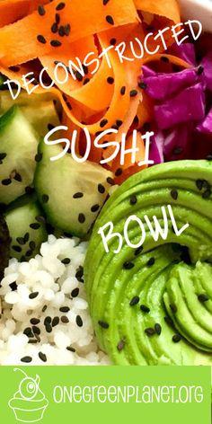 Deconstructed Sushi Bowl [Vegan]
