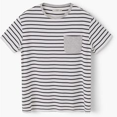 MANGO MAN Striped Cotton T-Shirt ($26) ❤ liked on Polyvore featuring men's fashion, men's clothing, men's shirts, men's t-shirts, men, mens cotton t shirts, mens short sleeve t shirts, mens t shirts, mens cotton shirts and mens striped shirt