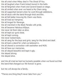 2001 - ∞.  We all cried when we read this.